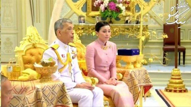 پادشاه تایلند با محافظ اش ازدواج کرد +عکس