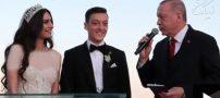 مسعود اوزیل با امینه گولشه ازدواج کرد +اردوغان ساقدوش شد