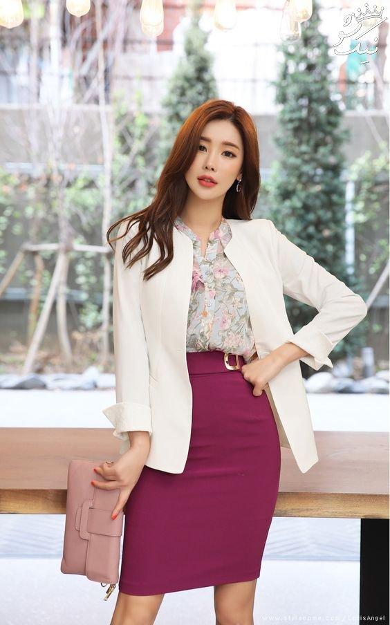 مدل کت تک دخترانه کره ای | ست کت و دامن کره ای 2020