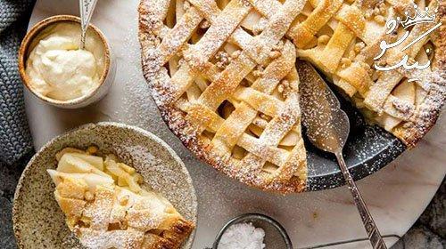 طرز تهیه پای سیب آمریکایی | مرحله به مرحله بدون فر و با فر