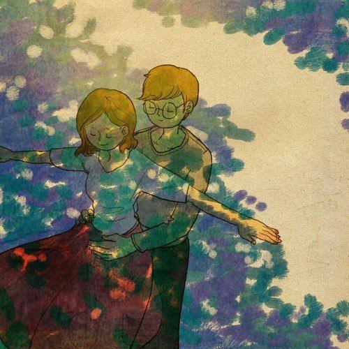 50 عکس کارتونی عاشقانه   عکس پروفایل کارتونی دختر