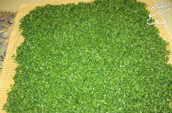 خشك كردن سبزی با مايكروويو