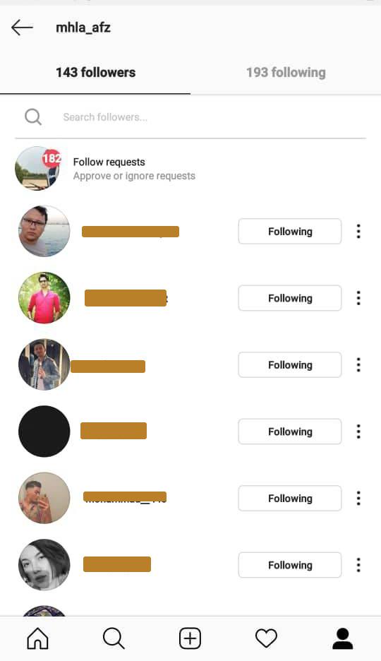 حذف افراد از پیج شخصی اینستاگرام بدون بلاک و انفالو کردن