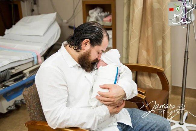 صحنه های احساسی از اولین ملاقات پدر و نوزاد
