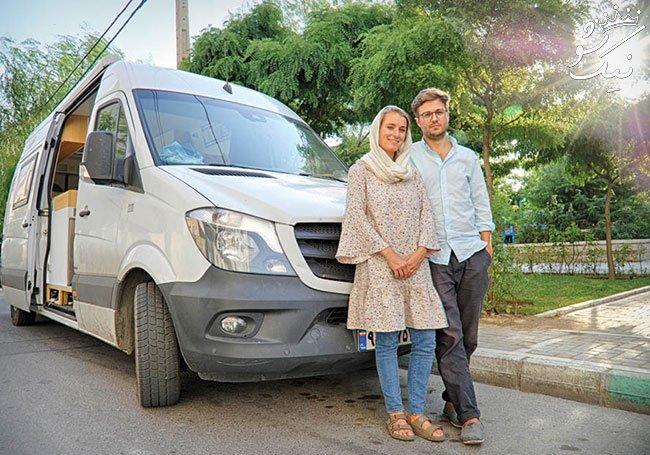 گفتگو با زوج جهانگرد بلژیکی که با ون سفر می کنند