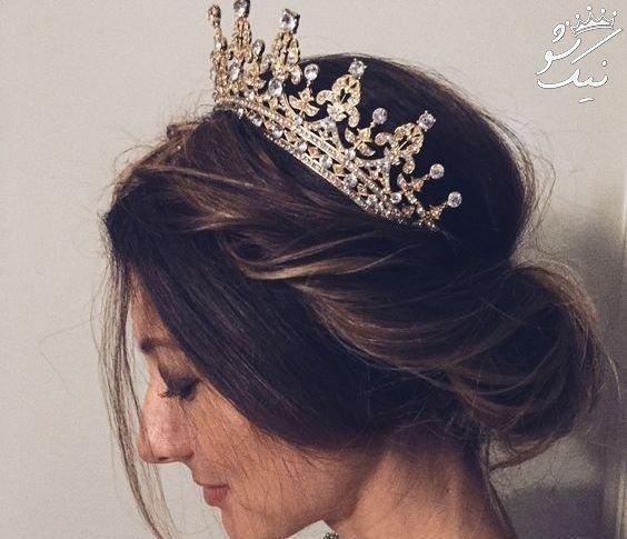 مدل مو عروس با تاج 2021 | ملکه های ، گرد ، فرحی ، تاج و تور