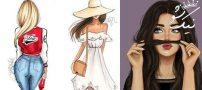 عکس کارتونی و نقاشی دخترانه واقعا زیبا و جذاب