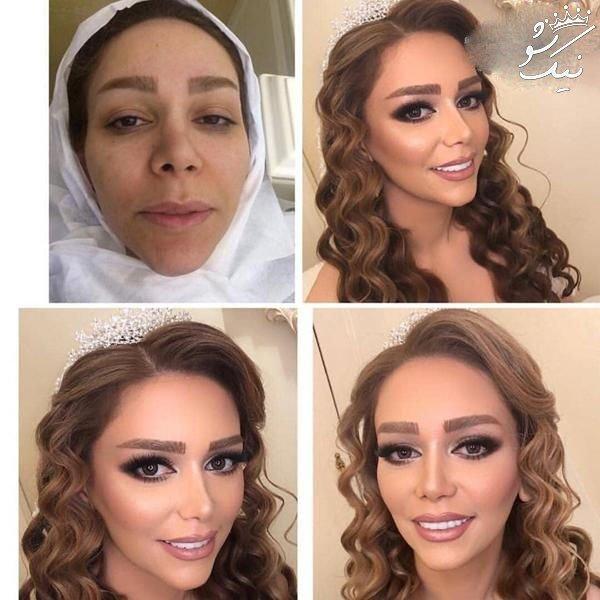 بهترین عکسهای عروس ایرانی قبل و بعد از آرایش