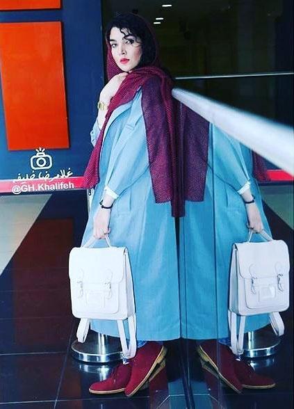 جدیدترین مدل های مانتو سارا رسول زاده در اینستاگرام