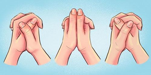 تست روانشناسی حالت قفل کردن دست ها