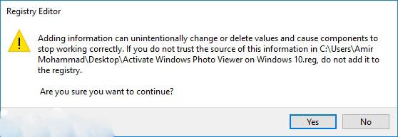 فعال سازی برنامه مشاهده عکس Windows Photo Viewer در ویندوز ۱۰