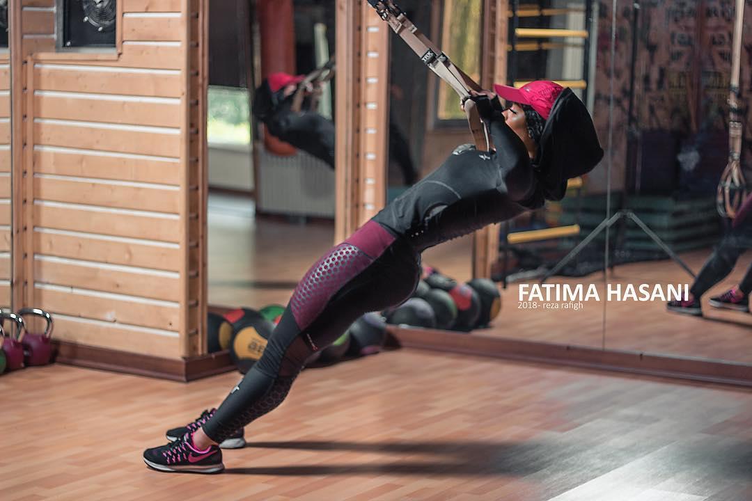 همراه با فاطیما حسنی ورزشکار بدنسازی و فیتنس