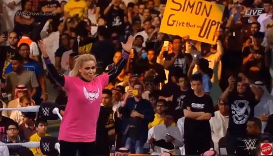 مسابقات کشتی کج زنان در عربستان با لباس های پوشیده