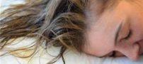 عوارض خوابیدن با موهای خیس