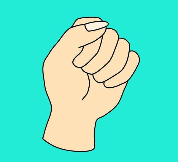 چطور دستتان را مشت می کنید؟ شخصیت شناسی