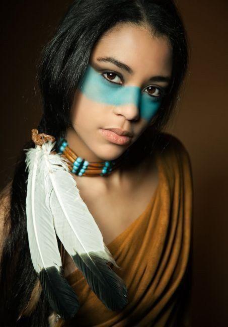 مدل آرایش سرخپوستی ، جذاب و زیبا