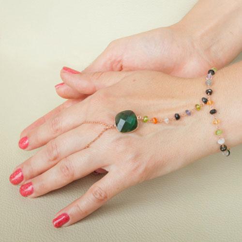 مدل دستبند انگشتری طلا شیک و جذاب