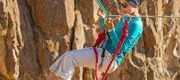 ریحانه ارمغانی ، دختری که روی طناب ها راه می رود