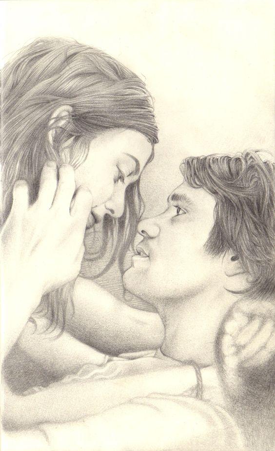 نقاشی و طراحی های عاشقانه فانتزی