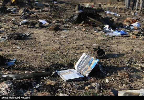 تصاویر دردناک از حادثه سقوط هواپیمای اوکراین