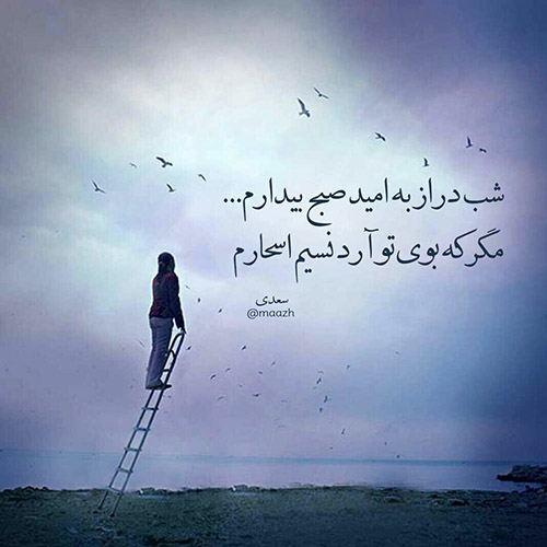 شعر چه کردهام که به هجران تو سزاوارم از سعدی