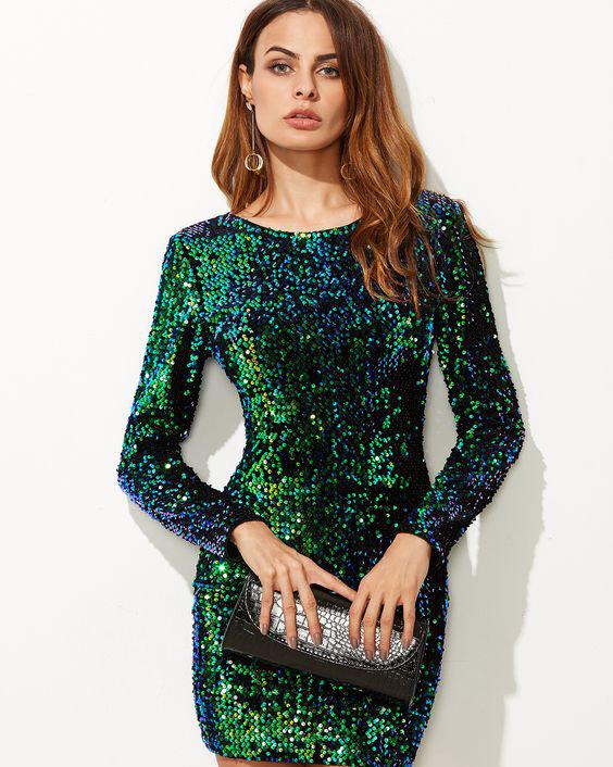 مدل لباس مجلسی پولک دار شیک و جدید 2020
