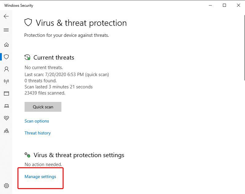 آموزش غیر فعال کردن آنتی ویروس ویندوز 10