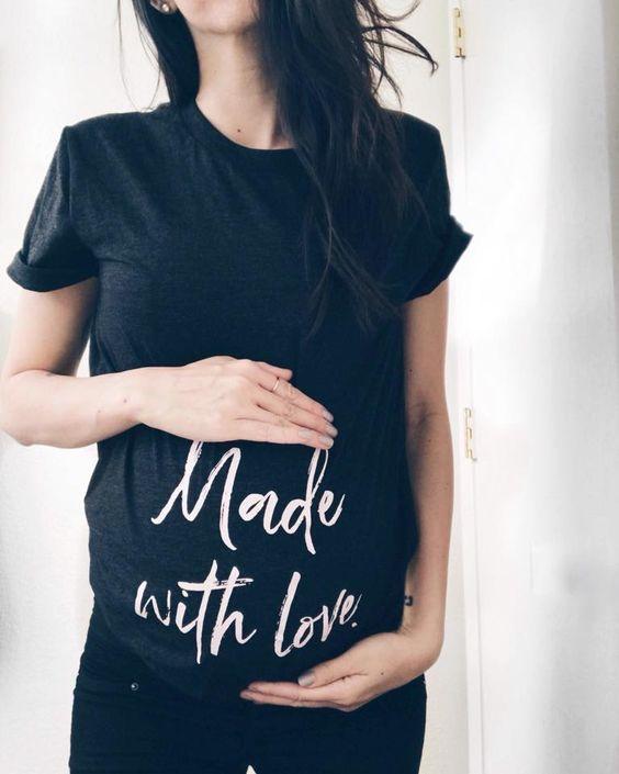 مدل های تیشرت بارداری نخی با طرح های فوق العاده