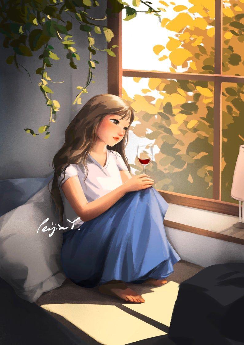 عکس دختر نقاشی شده برای پروفایل