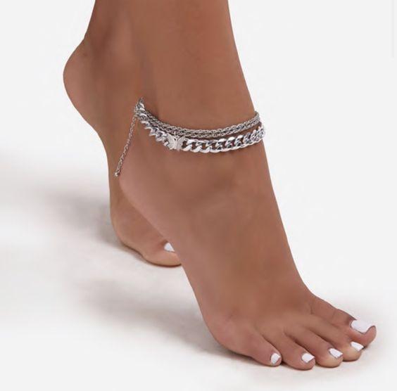 مدل پابند نقره ،زنجیر نقره دخترانه