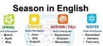 ماه های میلادی به شمسی به ترتیب فصل
